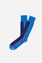 Panel Trim Printing Sock | Blue