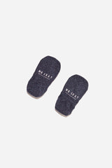 Basic Melange Invisible Sock | Indigo