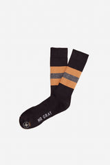 Bee Keeper Sock | Black / Tan