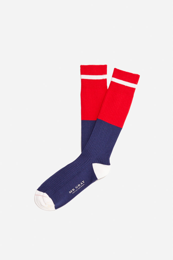 Tipped Stripe Sock | Red Multi | Mr. Gray