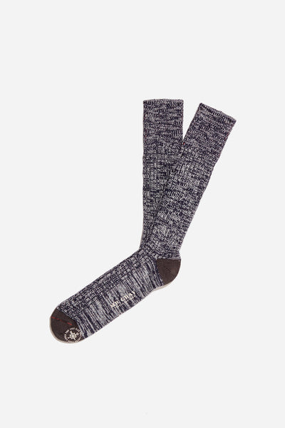 Soft Wool Pile Sock | Navy / Gray