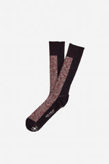 Melange / Solid Sock | Black / Purple