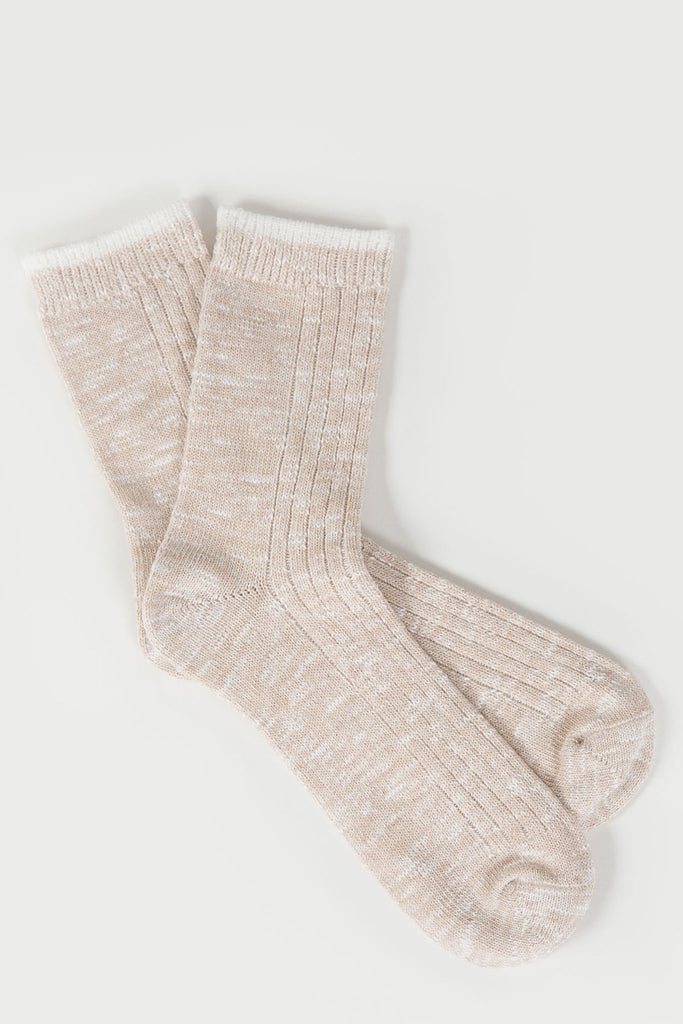 Mid Rib Slub Melange Sock | Mr. Gray