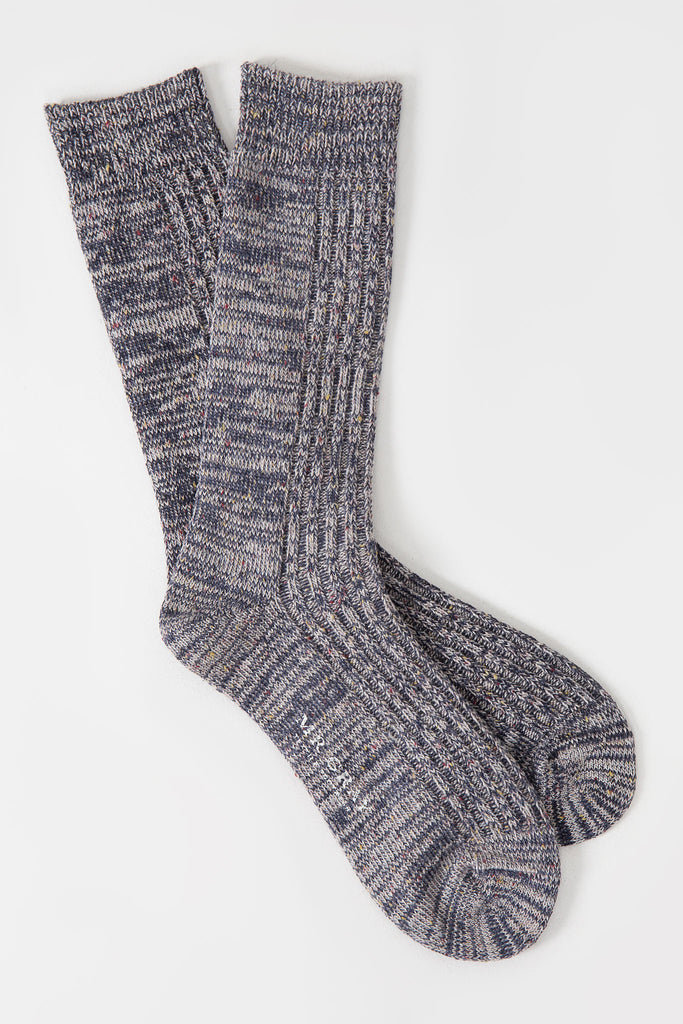 Slub Nep Melange Sock | Mr. Gray