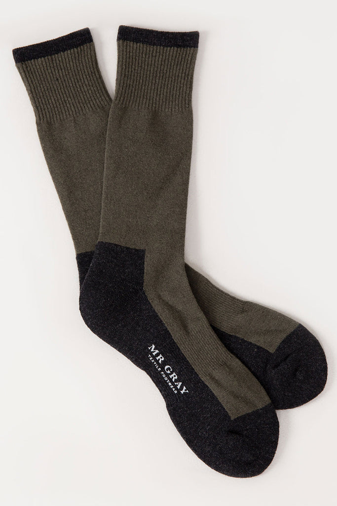 Wool Rib Pile Sock | Mr. Gray
