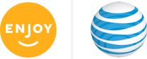 Enjoy Logo and AT&T Logo
