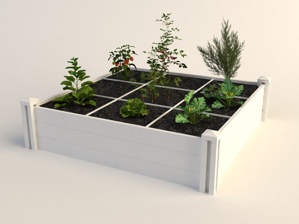 "4 x 4 x 11"" Raised Garden with Gro-Grid"