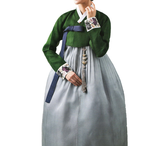 pine and gray hanbok