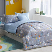 Kids - Hypoallergenic Comforter Set - Twin 2 pcs. - Space - Gray