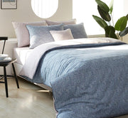 All Season Duvet Set - Queen 4 pcs. - Oatmeal - Blue