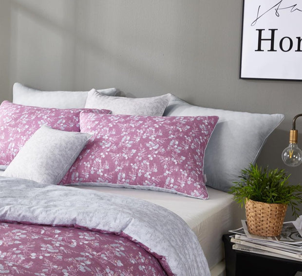 Light Comforter Set - Twin 2 pcs - Cozi - Pink / Gray