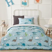 Kids - Hypoallergenic Comforter Set - Twin 2 pcs. - Dino - Blue Green
