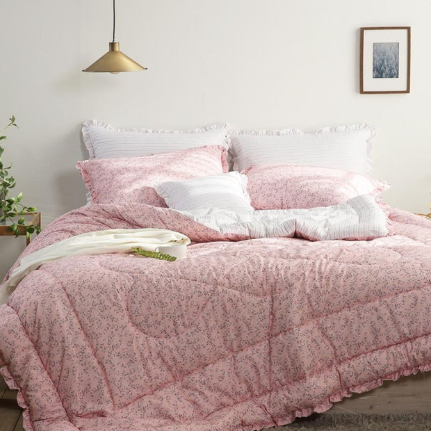 Comforter Set - Carrol - Queen 3 pcs. - Pink