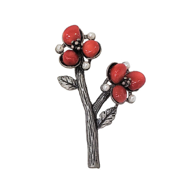 Brooch - Red Maple