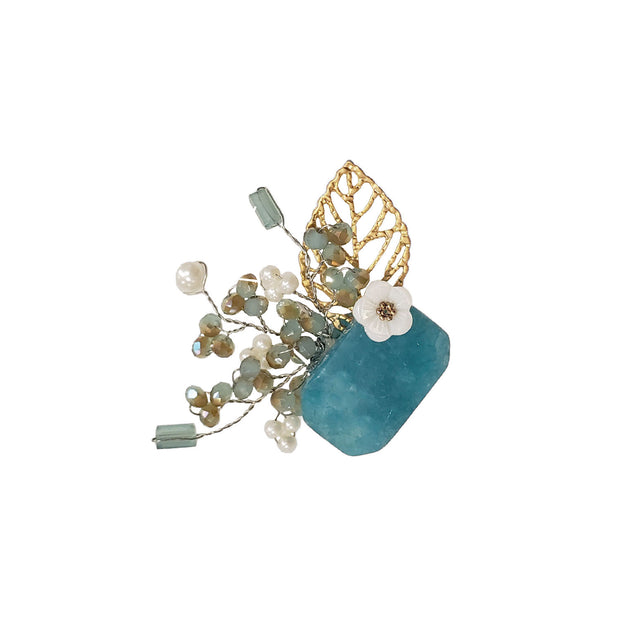 Brooch - Blue Bouquet