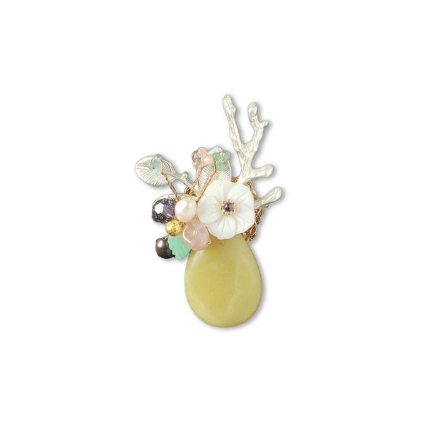 Brooch - Yellow Bouquet