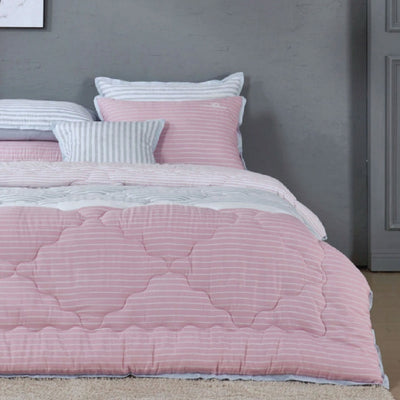 Intro - Summer Comforter Set - Twin 2 pcs. - Pink