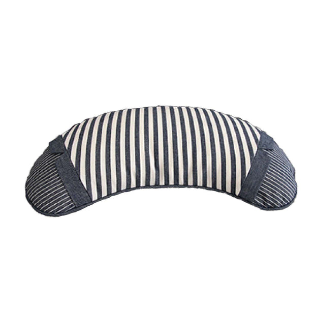 Buckwheat Pillow - Denim Crescent - Wide Stripe