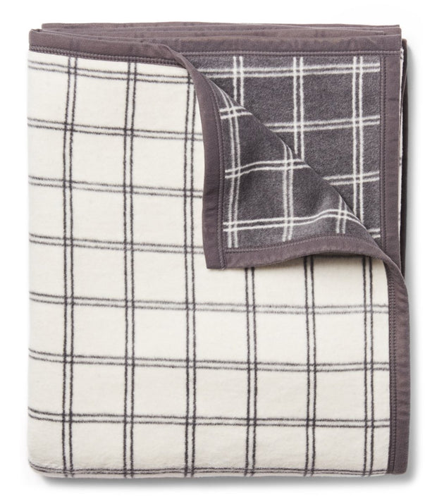 Blanket - Twin Size - Window Pane Plaid