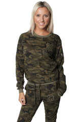 Camouflage Patch Design Tracksuit Set