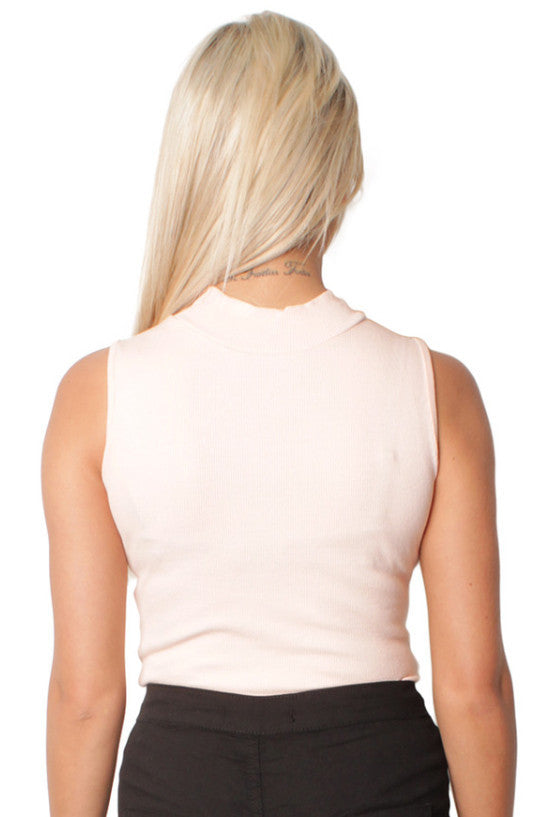 Peach High Neck Bodysuit