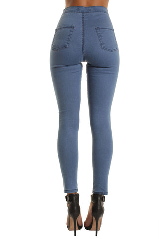 Light Blue High Waisted Skinny Jeans