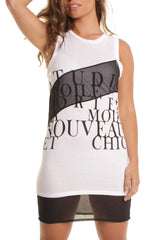 Black and White Dress T-shirt