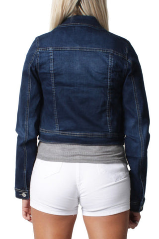 Dark Blue Short Denim Jacket