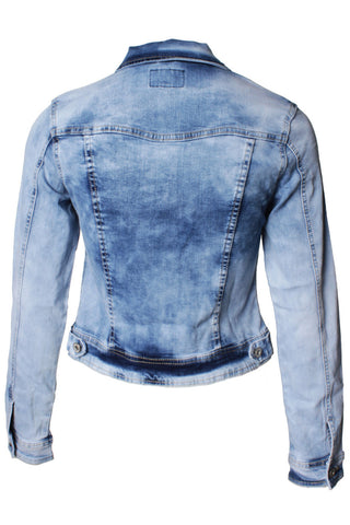 Light Washed Blue Long Sleeve Denim Jacket