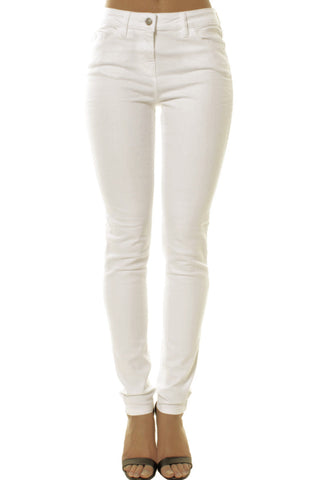 White Classic Mid Rise Slim Fit Jeans