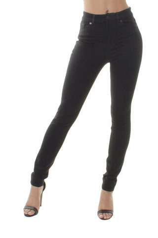 Classic Black High Waisted Skinny Jeans