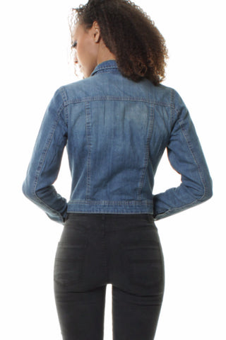 Mid Blue Stonewash Denim Jacket