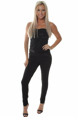 Black Sweetheart Jumpsuit