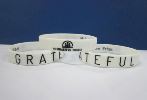 Grateful Project - 2 White Bracelet Pack