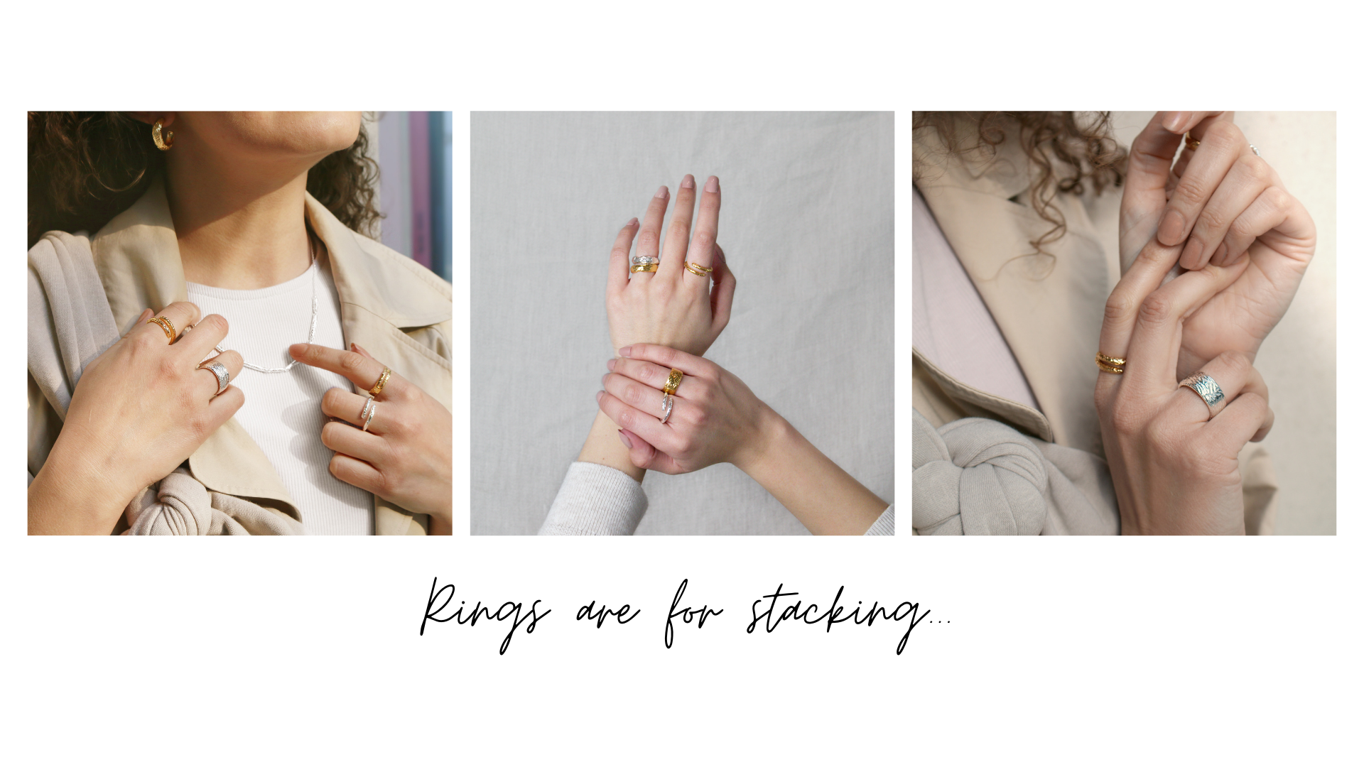 stacking rings etched collection maya magal jewellery london uk