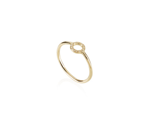 solid gold ring diamonds jewellery Maya magal London