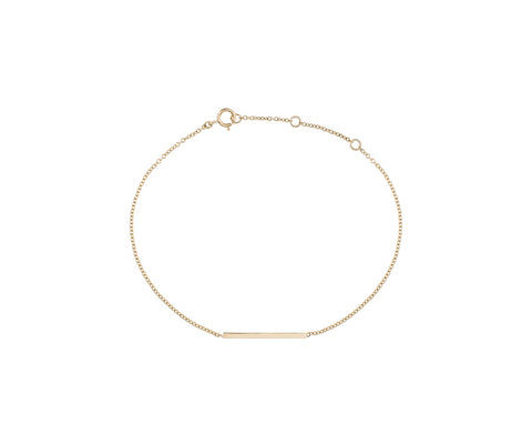 solid gold bar bracelet Maya magal London jewellery