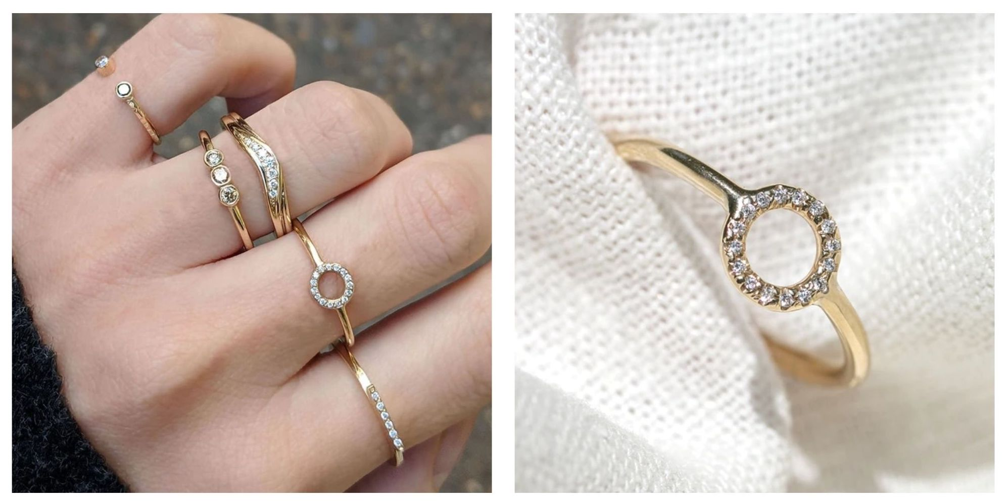 promise rings 9ct gold handmade by maya magal