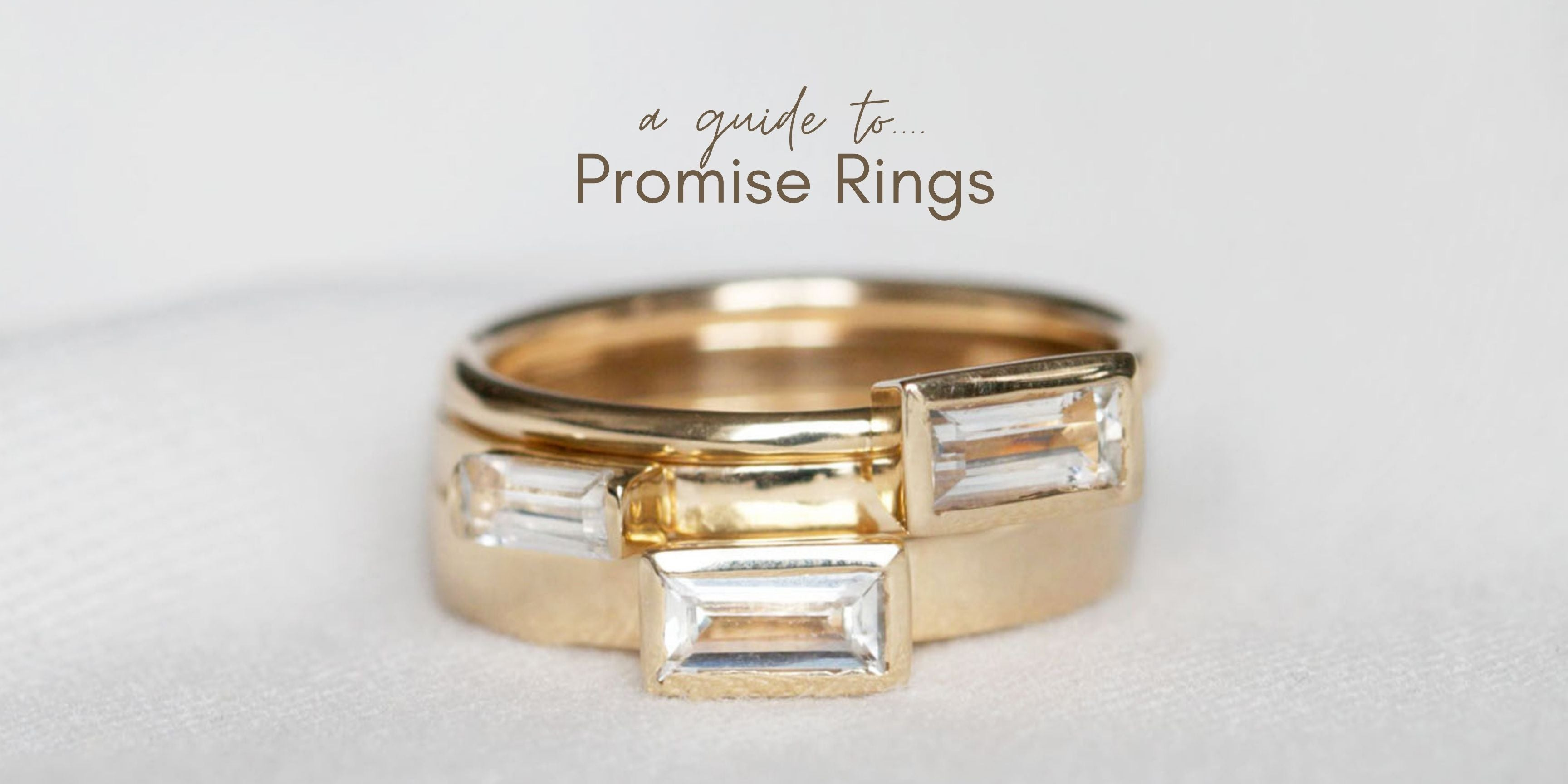 white sapphire promise ring