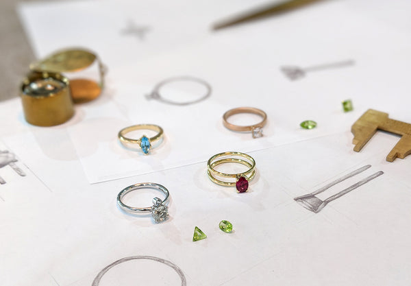 sketching bespoke rings
