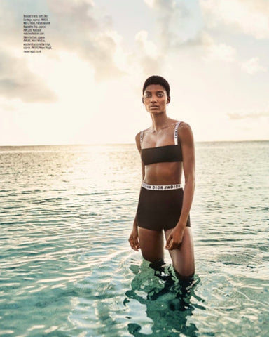 Maya Magal 'Circle Studs and Mini Faceted Hoops' featured in Elle Malaysia.