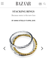 Harpers Bazaar - Stacking Ring Feature