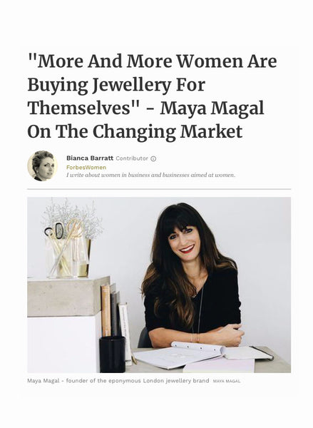 Forbes magazine article interview Maya Magal
