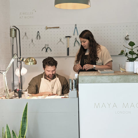 Jewellery workshop make your own ring London Maya Magal