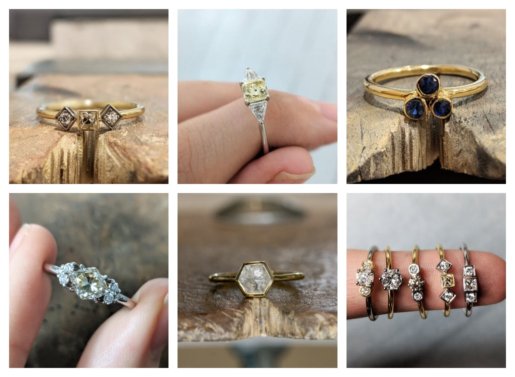 solid gold handmade rings