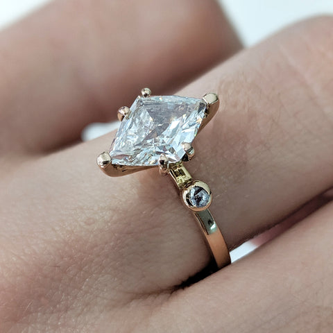 Diamond engagement ring bespoke London jewellery