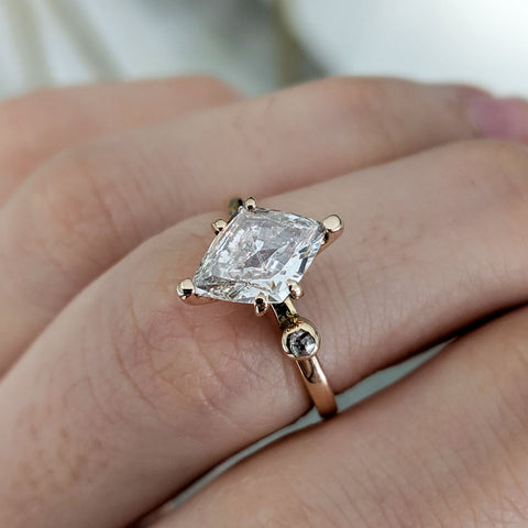 Diamond unusual creative engagement ring London bespoke jewellery