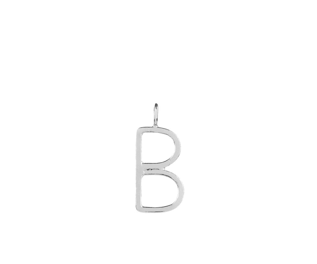 Outline Alphabet Charm Silver