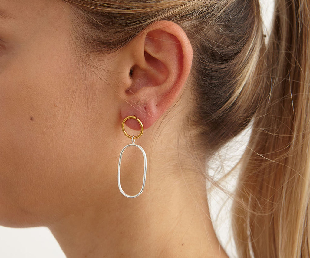 Charm Earrings Gold Maya Magal London