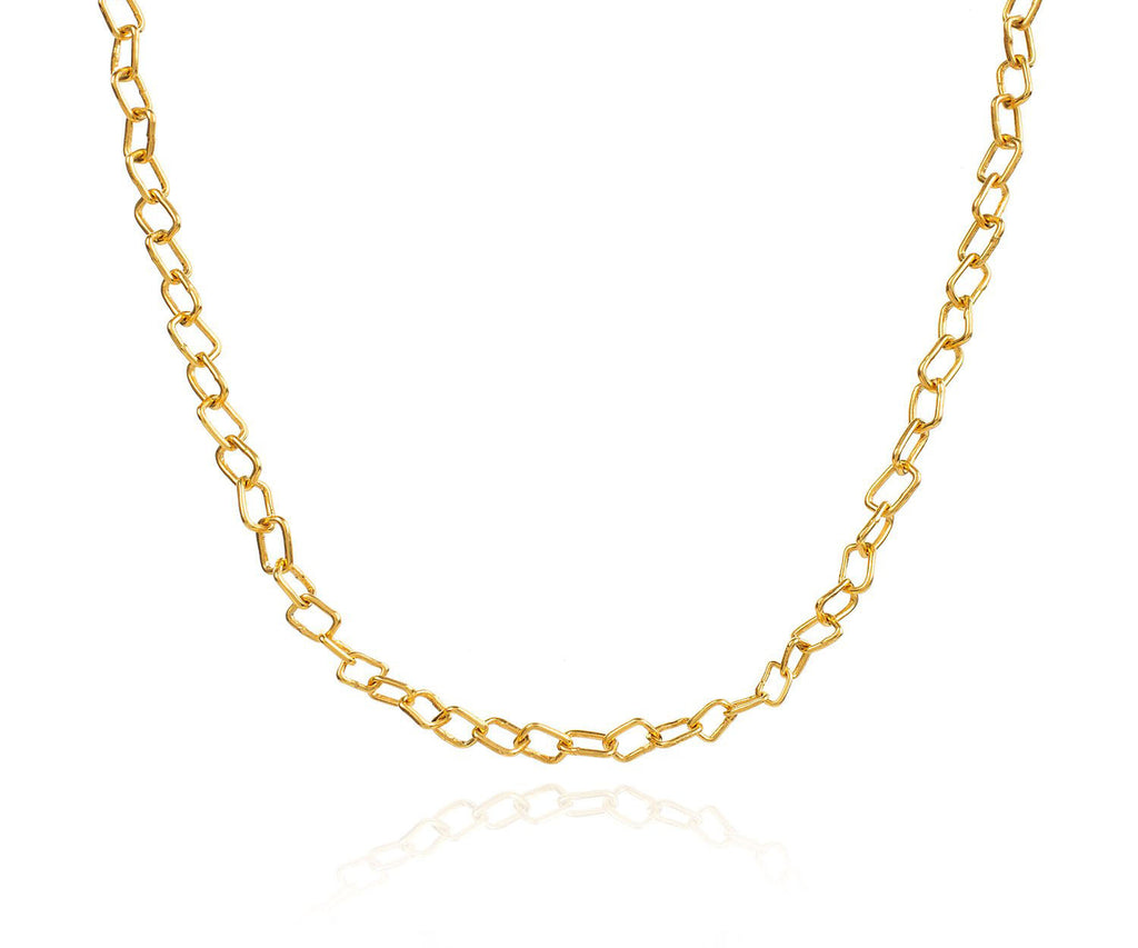 Gold Chain Link Necklace Layered Look UK London Jewellery Brand Maya Magal Yellow Gold
